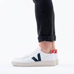 Buty męskie sneakersy Veja V-10 Leather Extra White Nautico Pekin VXM021267 obraz