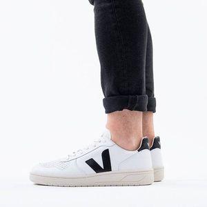Buty męskie sneakersy Veja V-10 Leather Extra White Black VXM020005 obraz