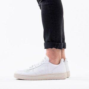 Buty męskie sneakersy Veja V-10 Leather Extra White Black VXM021270 obraz