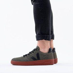 Buty męskie sneakersy Veja V-10 Suede Olive Black Rust Sole VXM031635 obraz