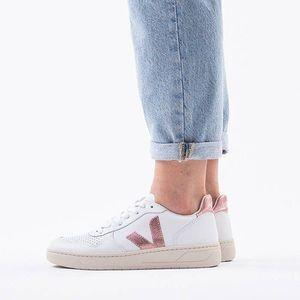 Buty damskie sneakersy Veja V-10 Leather Extra White Nacre VXW021907 obraz