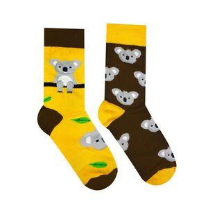 Wesołe skarpetki Koala - żółty/brązowy - Rozmiar 35-38 obraz