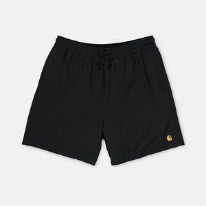 Spodenki męskie Carhartt WIP Chase Swim Trunks I026235 BLACK/GOLD obraz