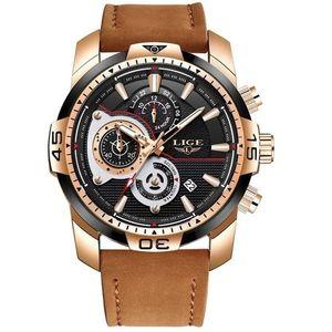 Zegarek LIGE Warrior - Brązowy/Czarny obraz