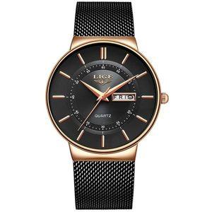 Zegarek LIGE - Czarny/Złoty obraz