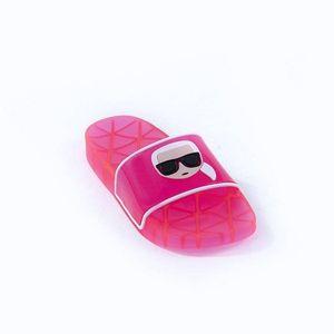 Klapki damskie Karl Lagerfeld Kondo Klear Ikonic Slide KL80705 VHP obraz