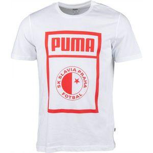 Puma SLAVIA PRAGUE GRAPHIC TEE ciemnoszary XXL - Koszulka męska obraz
