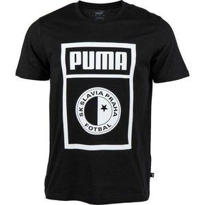Puma SLAVIA PRAGUE GRAPHIC TEE czarny L - Koszulka męska obraz