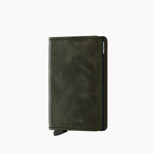 Portfel Secrid Slimwallet Vintage SV-OLIVE-BLACK obraz
