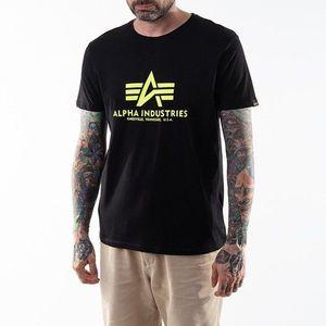 Koszulka męska Alpha Industries Basic T-Shirt Neon Print 100501NP 478 obraz