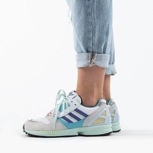 "Buty sneakersy adidas Originals Zx 8000 ""White Aqua"" EF4366 obraz"