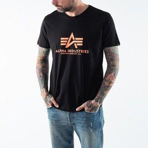 Koszulka męska Alpha Industries Basic T-Shirt Neon Print 100501NP 477 obraz