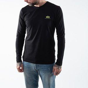 Koszulka męska Alpha Industries Basic Longsleeve Small Logo Neon Print 198517NP 478 obraz