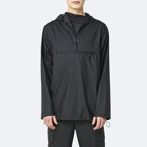 Kurtka męska Rains Ultralight Zip Anorak 1828 BLACK obraz