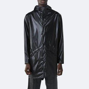 Płaszcz Rains Long Jacket 1202 SHINY BLACK obraz