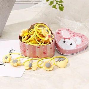 Gumki z pudełkiem Flowers - Żółty KP7464 obraz