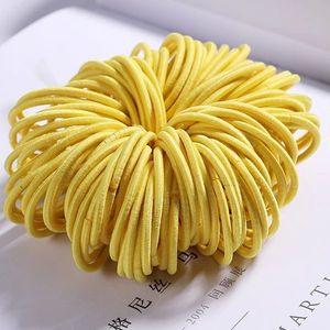 Dziecięce gumki do włosów - Żółty KP7932 obraz