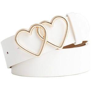 Pasek Hearts - Biały KP8278 obraz