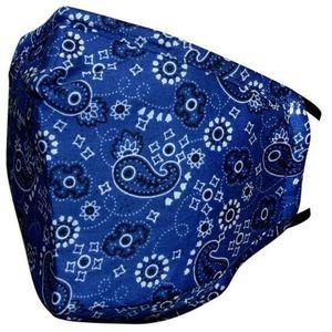 Maseczka bawełniana ze wzorem - Niebieski KP8489 obraz